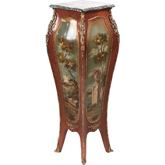 Magnificent Bombe Shaped Freestanding Pedestal