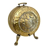 Outstanding Antique Victorian Ornate Brass Coal Bucket