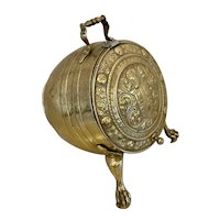 Magnificent Quality Antique Victorian Ornate Brass Log Bucket