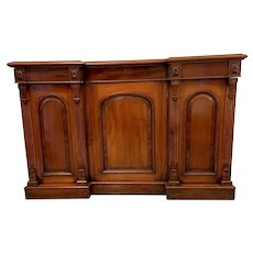 19th Century Antique Victorian Mahogany Breakfront Sideboard