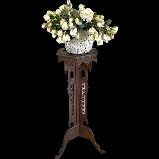 Fantastic Quality Antique Edwardian Carved Plant Stand