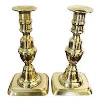 Antique Pair of Brass Candlesticks