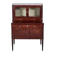 Quality Antique French Mahogany Fold Down Desk
