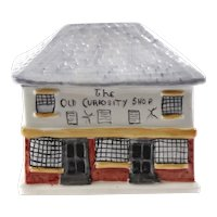 Unusual Antique Staffordshire Cottage Money Box