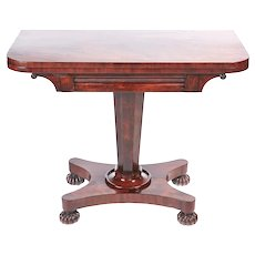 Quality Antique Victorian Mahogany Card Table