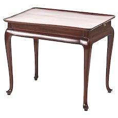George III Mahogany Tray Top Silver Table