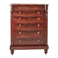Tall Victorian Mahogany Chest of Drawers