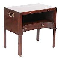 Unusual Antique George III Mahogany Silver/Bedside Table