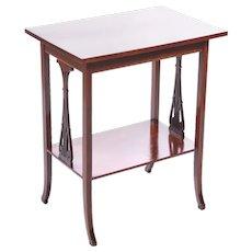 Antique Edwardian Mahogany Inlaid Lamp Table