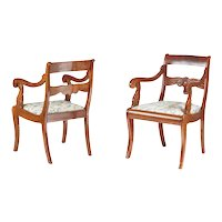 Pair of French Mahogany Carver Chairs c.1880