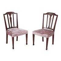 Pair of Mahogany Hepplewhite Style Side Chairs c.1890