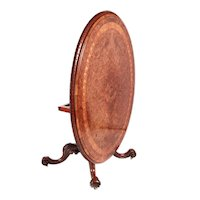 Fine Quality Early Victorian 19th Century Burr Walnut Inlaid Centre Table