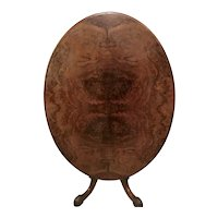 Victorian Burr Walnut Oval Centre Table
