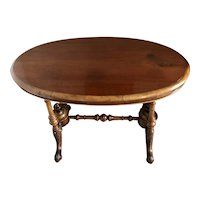 Antique 19th Century Victorian Oval Walnut Centre Table