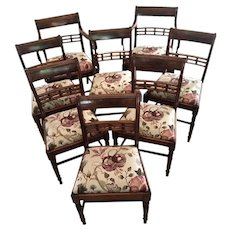 Fine Antique Set of Eight George III Mahogany Dining Chairs