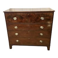 Magnificent Quality George III Inlaid Mahogany Secretaire Chest