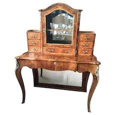 Outstanding Quality Antique Victorian Burr Walnut Bonheur Du Jour/Writing Desk