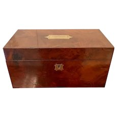 Antique Regency Quality Mahogany Tea Caddy