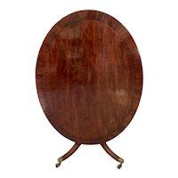 Large Antique George III Oval Mahogany Breakfast Table c.1790
