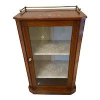 Antique Victorian Burr Walnut Inlaid Music Cabinet