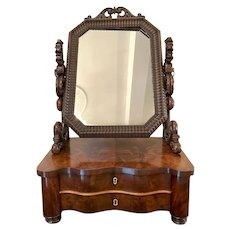 Antique Victorian Mahogany Swing Mirror