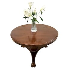 Antique Victorian Mahogany Circular Centre Table