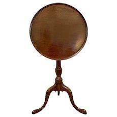 George III Mahogany Dish Top Tripod Table