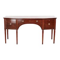 Antique George III Mahogany Bow Front Sideboard