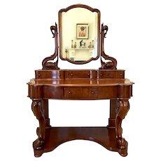 Quality Antique Victorian Mahogany Dressing/Vanity Table