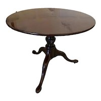 Fine Quality Antique George III Mahogany Tripod Table