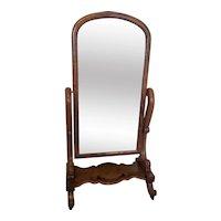 19th Century Victorian Antique Mahogany Dressing Mirror