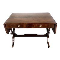 Fine Quality Antique George III Inlaid Mahogany Freestanding Sofa Table