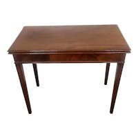 Antique 18th Century George III Mahogany Inlaid Tea Table