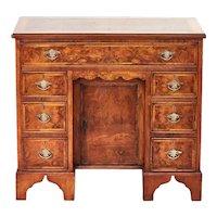 Antique Georgian Revival Walnut Kneehole Desk