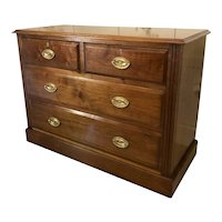 Unusual Antique Victorian Walnut Chest of Drawers