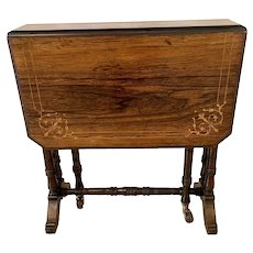 Quality Antique Edwardian Inlaid Rosewood Sutherland Table