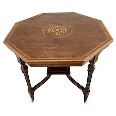 Outstanding Quality Antique Inlaid Mahogany Centre Table