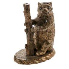Unusual Pair of Antique Victorian Brass Bears