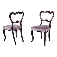Quality Pair of Victorian Rosewood Side/Desk Chairs