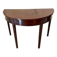 Antique George III mahogany demi-lune console table