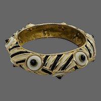Vintage Boucher Look of Fine Enameled Bangle Bracelet