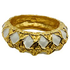 Vintage Kenneth Jay Lane Enamel Bangle Bracelet