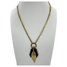 Art Deco Style Gilt Metal Necklace