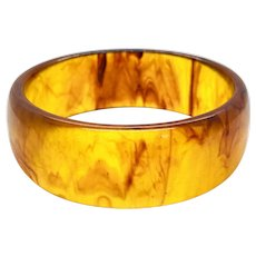 Bakelite Bangle Marbled Brown Bracelet