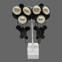 Vintage Sorrelli Runway Coin Charm Earrings