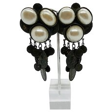 Vintage Sorrelli Runway Coin Charm Earrings