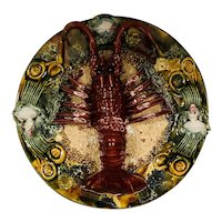 Majolica Portugal Palissy Lobster Plate