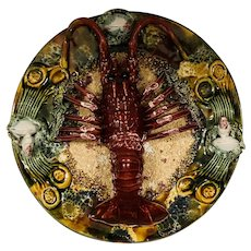Majolica Portugal Palissy Lobster Plate