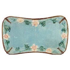 Majolica Fielding Turquoise Floral Tray