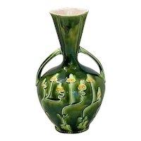 Majolica Josef Strnact Art Nouveau Vase
